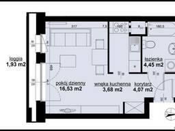 1-комнатная квартира в Познани