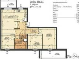 4-комнатная квартира в городе Познань