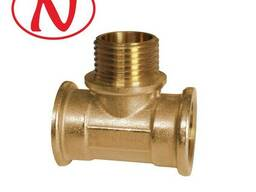 "Brass Tee Fitting 1/2""F-1/2""M-1/2""F / HS"