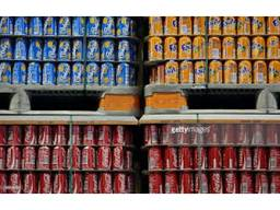 Coca cola, fanta, pepsi and other energy drinks