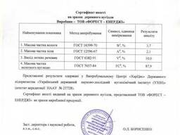 Древесный уголь из твердых пород древесины из Украины