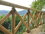 Колья оцилиндрованные, столбы для сада, шпалеры