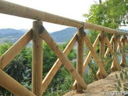 Колья оцилиндрованные, столбы для сада, шпалеры, палисады