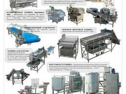 Линия для переработки грибов шампиньонов