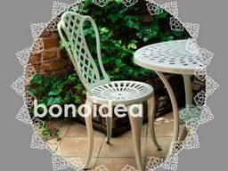 Мебель для сада и террасы алюминиевая набор 4 1 - фото 2