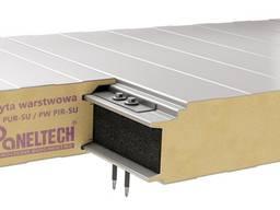 Paneltech PW PIR-SU - płyta warstwowa ściana poliuretan mocowanie ukryte