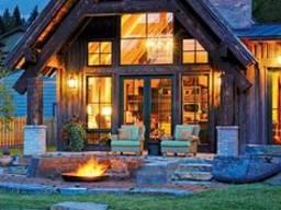 Построим красивый, оригинальный дом из дерева и камня