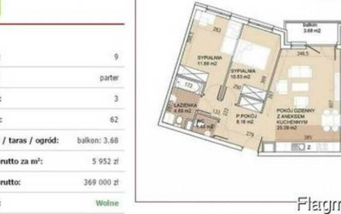 Продам квартиру в южном районе Вроцлава Кшики