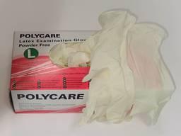 Rękawiczki lateksowe polycare - M