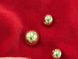 Золотистая глянцевая пуговица на ножке, 20 мм